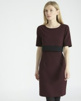 aubergine Double Layer Dress