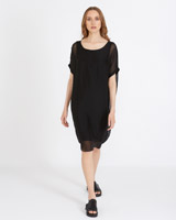 black Carolyn Donnelly The Edit Silk Jersey Dress