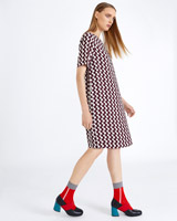 print Carolyn Donnelly The Edit Optical Print Dress
