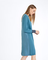 blue Carolyn Donnelly The Edit Zip Back Knit Dress