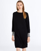 black Carolyn Donnelly The Edit Zip Back Knit Dress