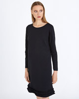black Carolyn Donnelly The Edit Frill Hem Dress