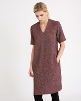 red Carolyn Donnelly The Edit Tweed Dress