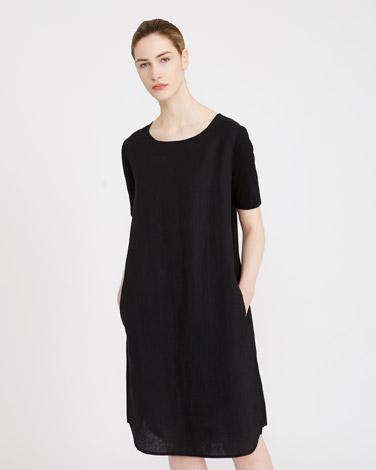 blackCarolyn Donnelly The Edit Jersey Side Linen Dress