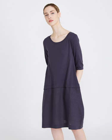 petrolCarolyn Donnelly The Edit Linen Button Back Dress