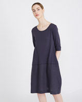 petrol Carolyn Donnelly The Edit Button Back Dress