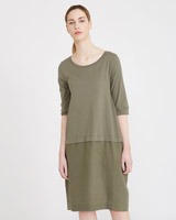 khaki Carolyn Donnelly The Edit Button Back Dress