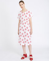print Carolyn Donnelly The Edit Coral Print Dress