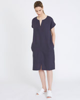 petrol Carolyn Donnelly The Edit Linen Dress