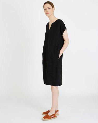 blackCarolyn Donnelly The Edit Linen Dress