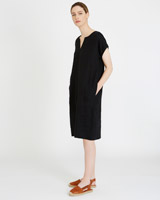 black Carolyn Donnelly The Edit Linen Dress