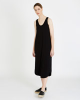 black Carolyn Donnelly The Edit Washed Jersey Dress