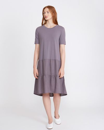 Carolyn Donnelly The Edit Linen Flounce Dress