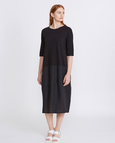 Carolyn Donnelly The Edit Linen Jersey Dress