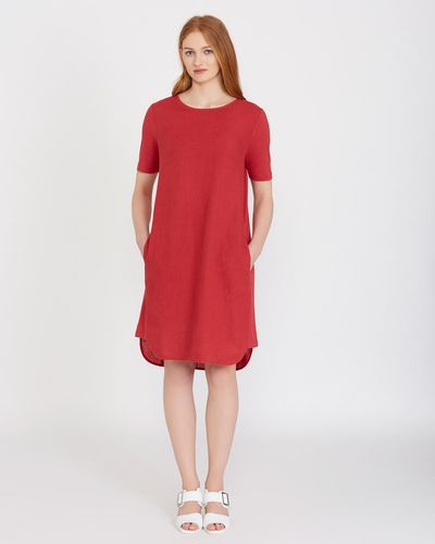 Carolyn Donnelly The Edit Linen Side Detail Dress
