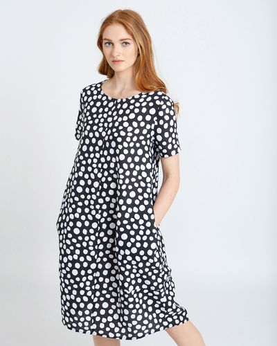 Carolyn Donnelly The Edit Linen Spot Print Dress