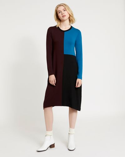 Carolyn Donnelly The Edit Colour Block Jersey Dress