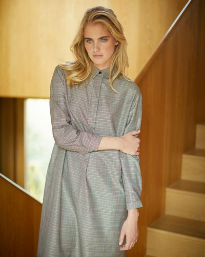 Carolyn Donnelly The Edit Check Shirt Dress