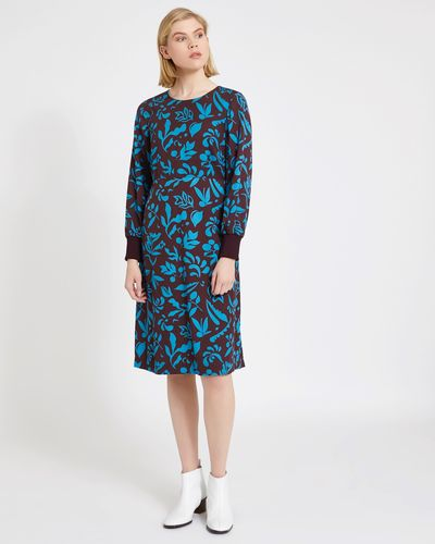 Carolyn Donnelly The Edit Two-Tone Floral Print Dress