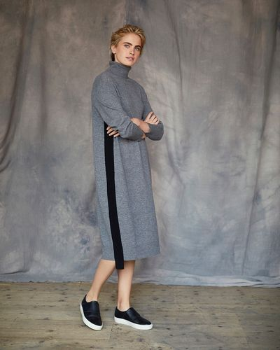 Carolyn Donnelly The Edit Cashmere Mix Polo Dress