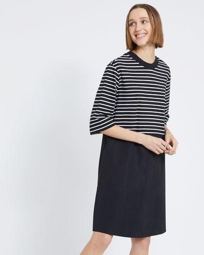 Carolyn Donnelly The Edit Stripe Cotton Hem Dress