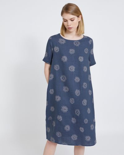 Carolyn Donnelly The Edit Flower Print Linen Dress