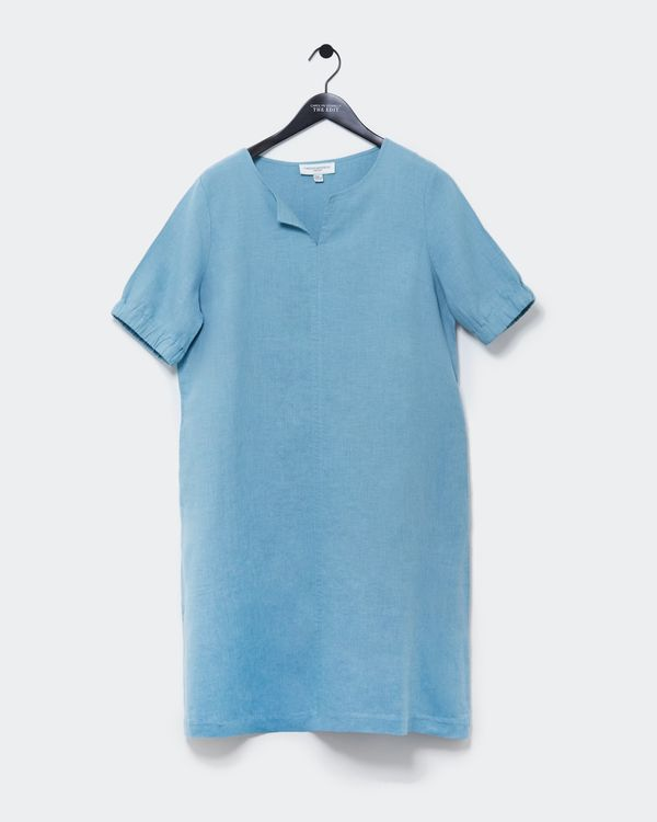 Carolyn Donnelly The Edit Linen Gathered Sleeve Dress