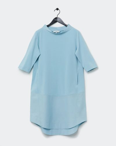 Carolyn Donnelly The Edit Funnel Neck Cotton Hem Dress