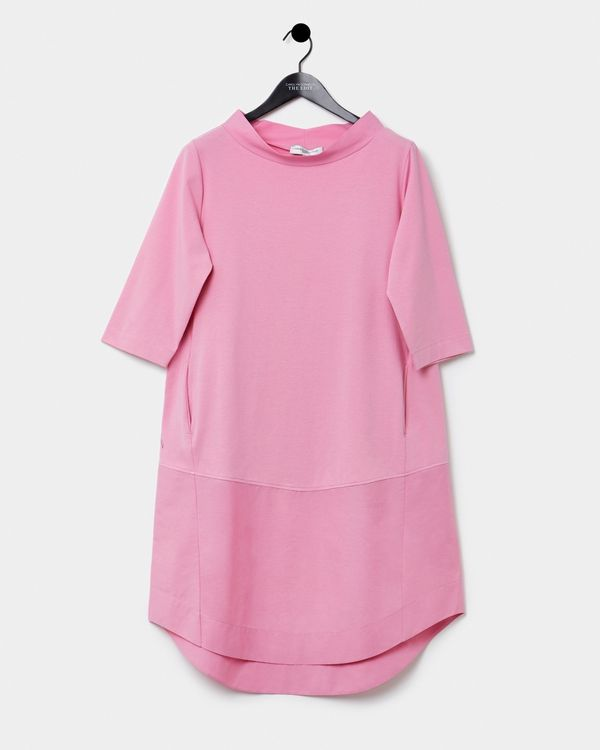 Carolyn Donnelly The Edit Funnel Neck Cotton Hem Dress