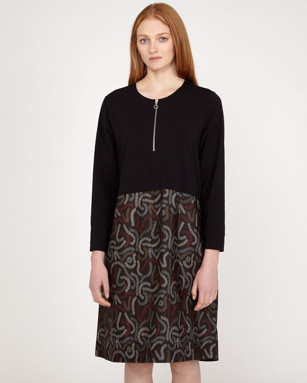 Carolyn Donnelly The Edit Squiggle Print Cotton Hem Dress