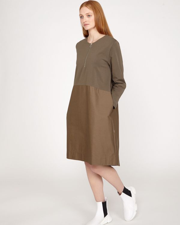 Carolyn Donnelly The Edit Khaki Zip Dress