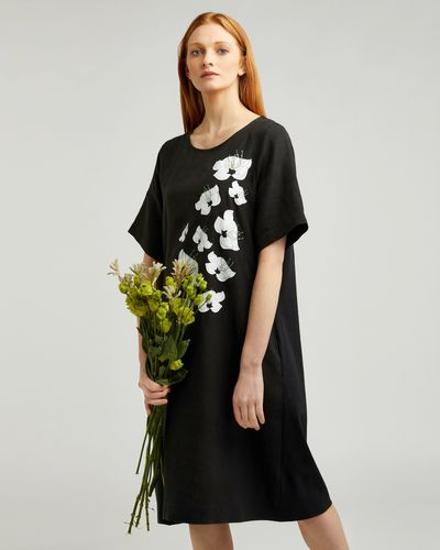 Carolyn Donnelly The Edit Linen Placement Print Dress