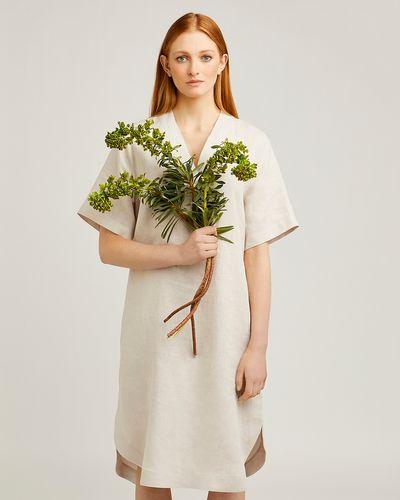 Carolyn Donnelly The Edit V-Neck Linen Dress
