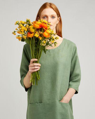 Carolyn Donnelly The Edit Pocket Shift Linen Dress