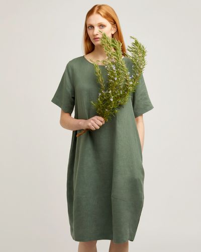 Carolyn Donnelly The Edit Cocoon Linen Dress