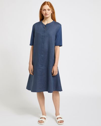 Carolyn Donnelly The Edit Bartack Linen Dress