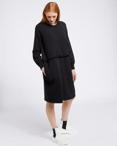 Carolyn Donnelly The Edit Frill Sweater Dress