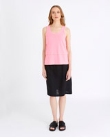 pink Carolyn Donnelly The Edit Double Hem Singlet