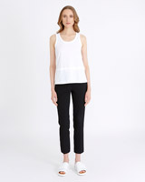 white Carolyn Donnelly The Edit Double Hem Singlet
