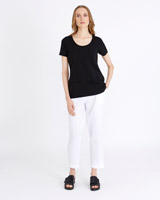 black Carolyn Donnelly The Edit Double Hem T-Shirt