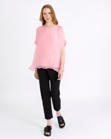 pink Carolyn Donnelly The Edit Silk Jersey Top
