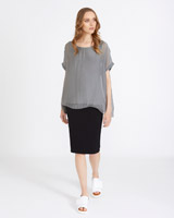 grey Carolyn Donnelly The Edit Silk Jersey Top