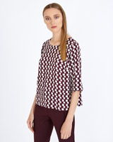 print Carolyn Donnelly The Edit Optical Print Top