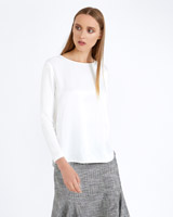 cream Carolyn Donnelly The Edit Jersey Side Detail Top