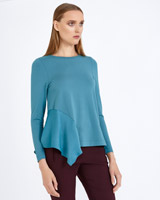 blue Carolyn Donnelly The Edit Asymmetric Top