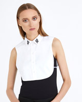 white Carolyn Donnelly The Edit Embroidered Shirt Bib