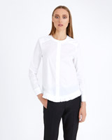 white Carolyn Donnelly The Edit Frill Hem Shirt