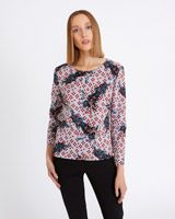 print Carolyn Donnelly The Edit Geo Floral Top