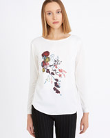 cream Carolyn Donnelly The Edit Flower Print Top