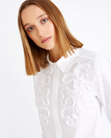 white Carolyn Donnelly The Edit Applique Shirt